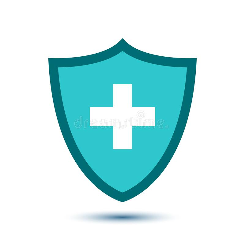 Health And Medical Badge Stock Illustration. Illustration