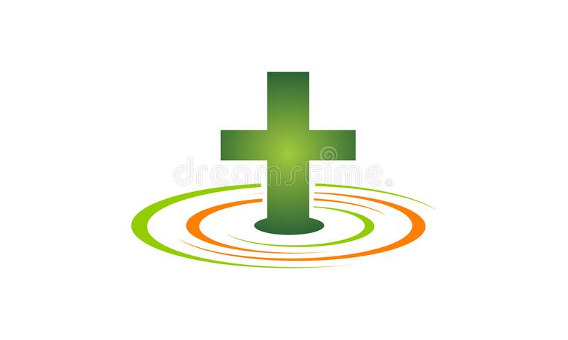 Medical Health Solutions Center Stock Vector Illustration Of Cross