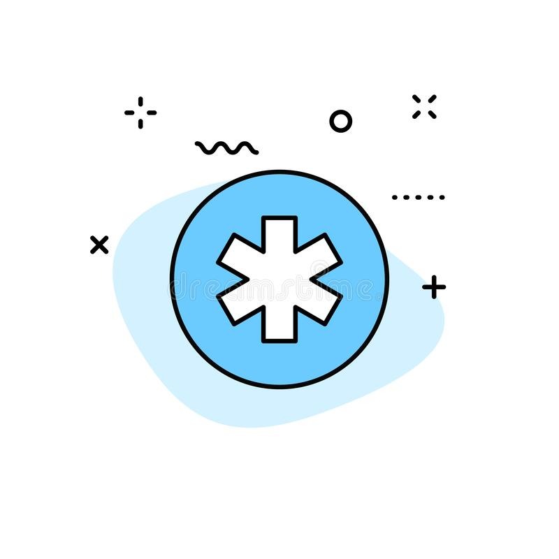 Medical and Health web icons in line style. Medicine and Health Care, RX, infographic. Vector illustration.  royalty free illustration