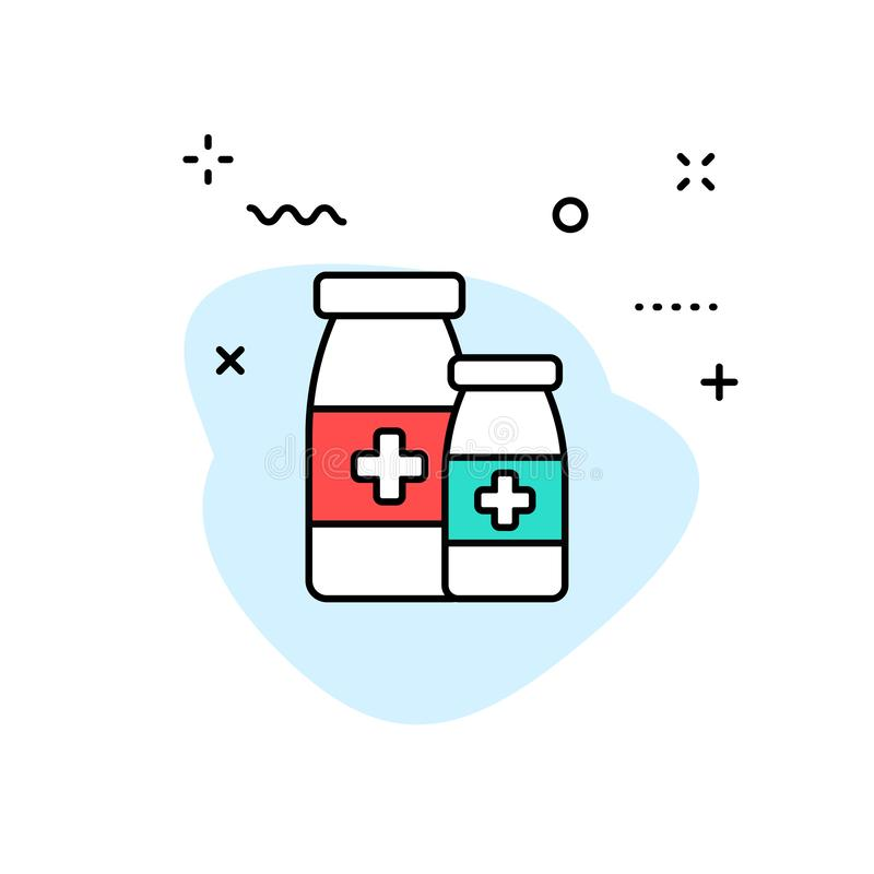 Medical and Health web icons in line style. Medicine and Health Care, RX, infographic. Vector illustration.  vector illustration