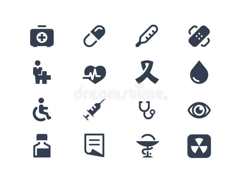 Medical and healthcare icons stock illustration