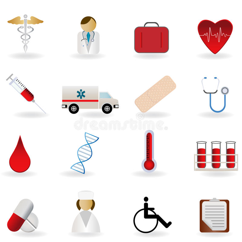Download Medical And Healthcare Symbols Stock Vector - Illustration of clip, emergency: 16325525