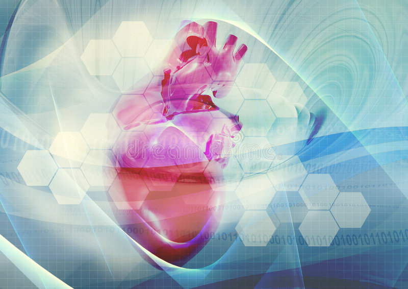 Medical heart background stock images
