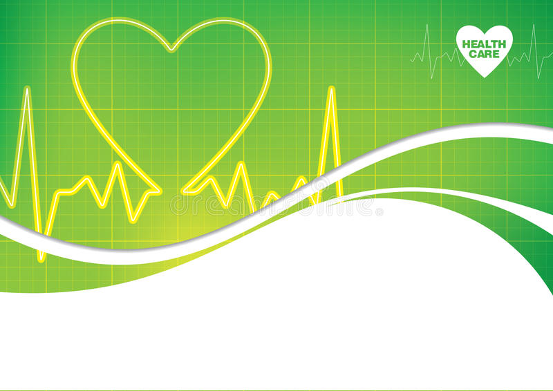 Medical Heart Beat Design. A medical design of the rhythm of a heartbeat royalty free illustration