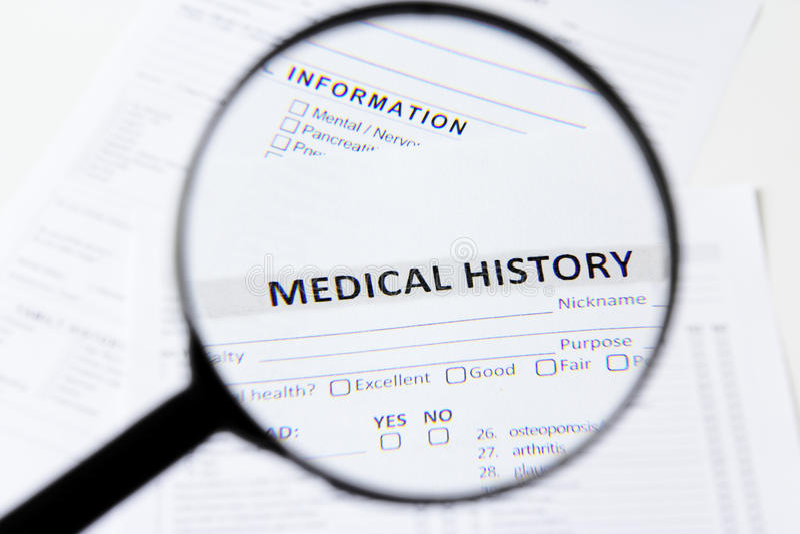 Medical history royalty free stock photos