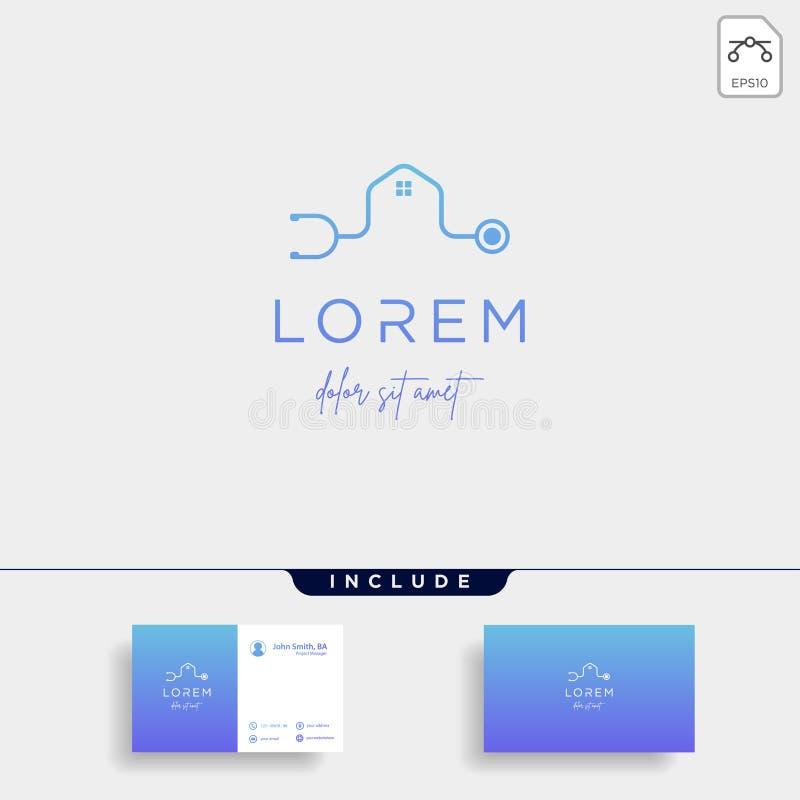 medical home logo vector design icon sign stock illustration