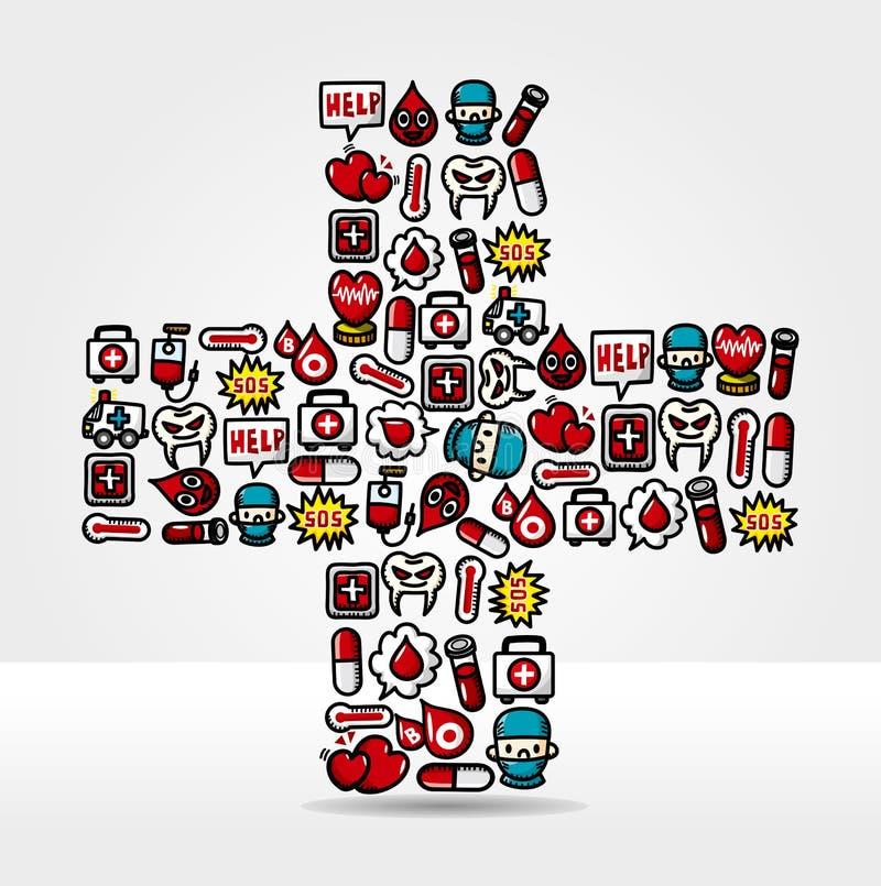 Medical and Hospital card stock illustration