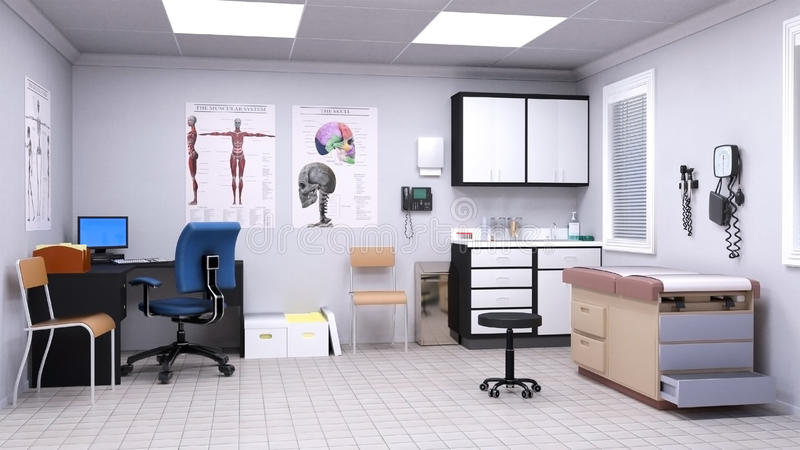 Medical Hospital Doctor Examination Room vector illustration