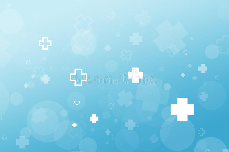 Medical Hospital icon abstract background, blue gradient illustration design. royalty free stock photo