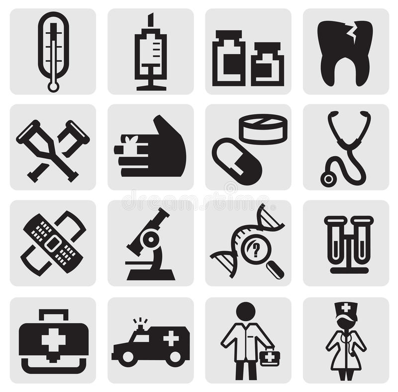 Download Medical icon stock vector. Image of sign, graphic, black - 26337981