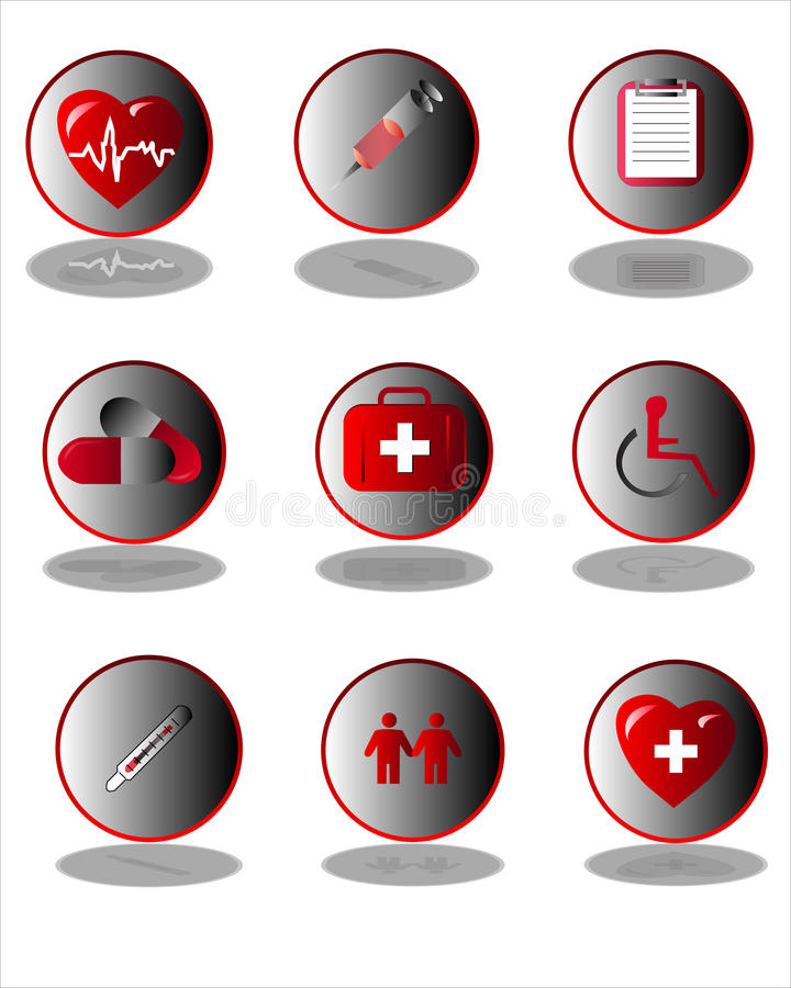 Medical icon collection vector illustration