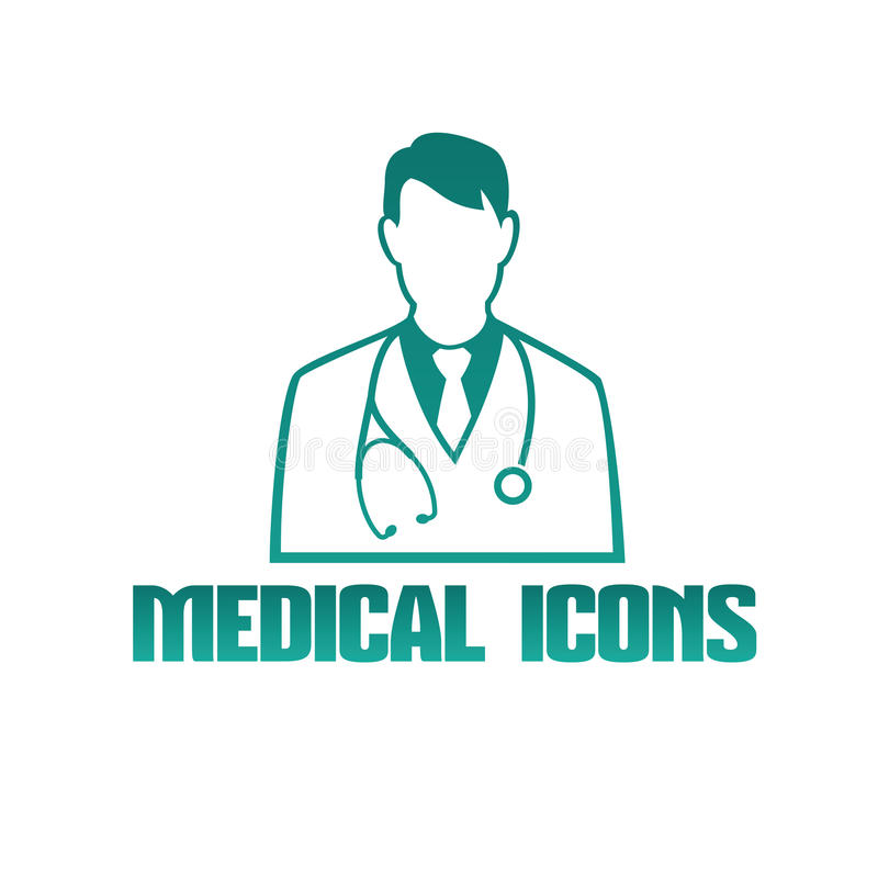 Medical icon with doctor therapist vector illustration