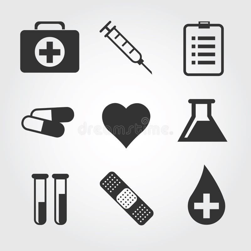 Medical icon, flat design stock illustration