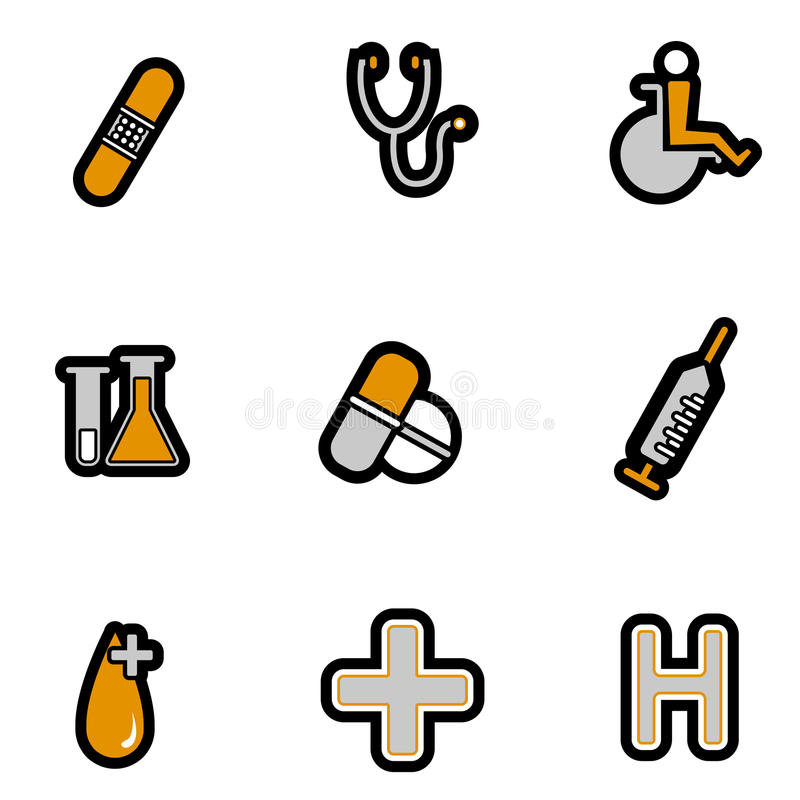 Download Medical icon set stock vector. Illustration of drawn - 11554990