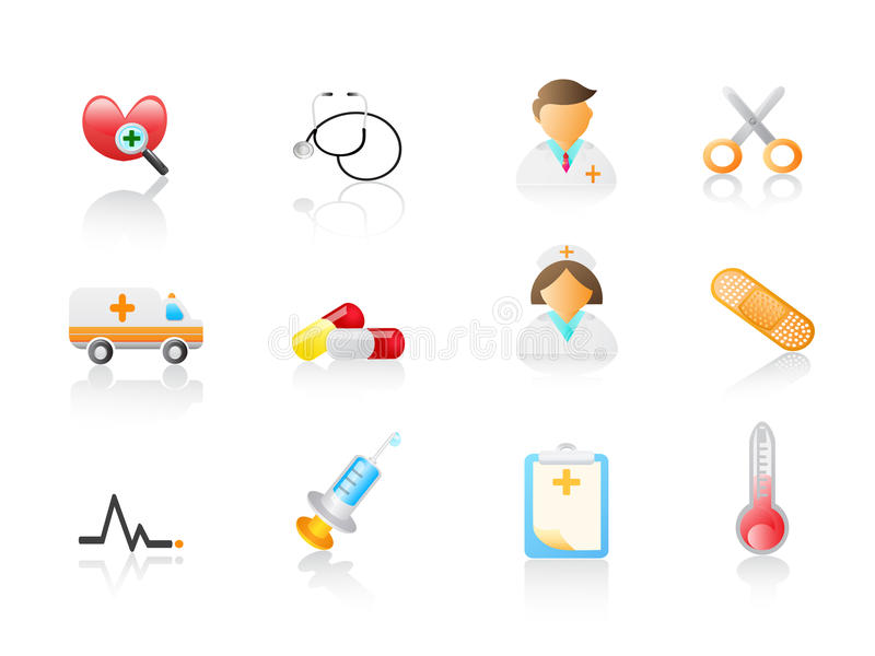 Download Medical icon set stock vector. Image of pharmacy, emergency - 13431437