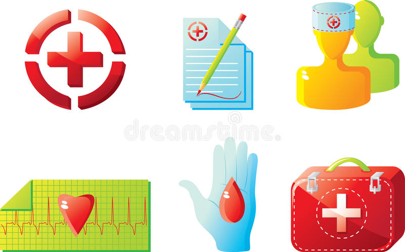 Medical icon set stock illustration