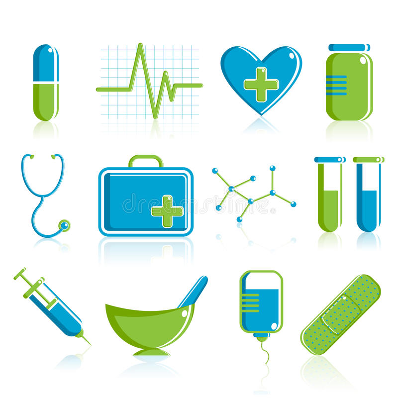 Download Medical Icon Set stock vector. Image of group, healthy - 18839581
