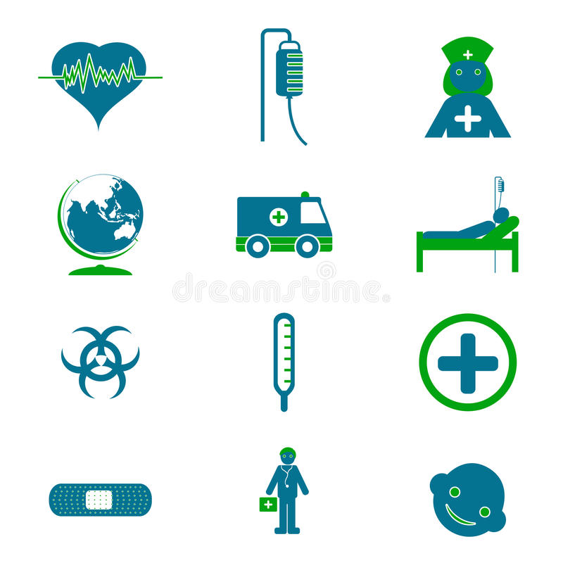 Download Medical Icon Set stock vector. Illustration of injection - 18858912