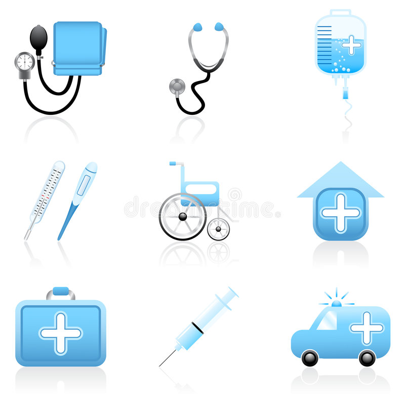 Medical icon set. Set with medical and health icons