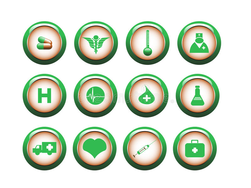 Medical icon set stock photography