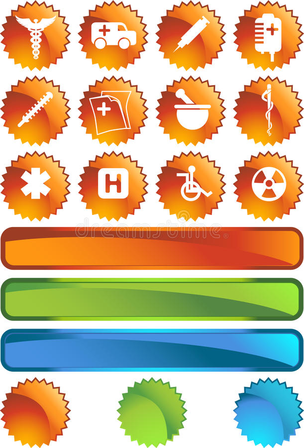 Download Medical Icon Set - Seal stock vector. Illustration of care - 9498969