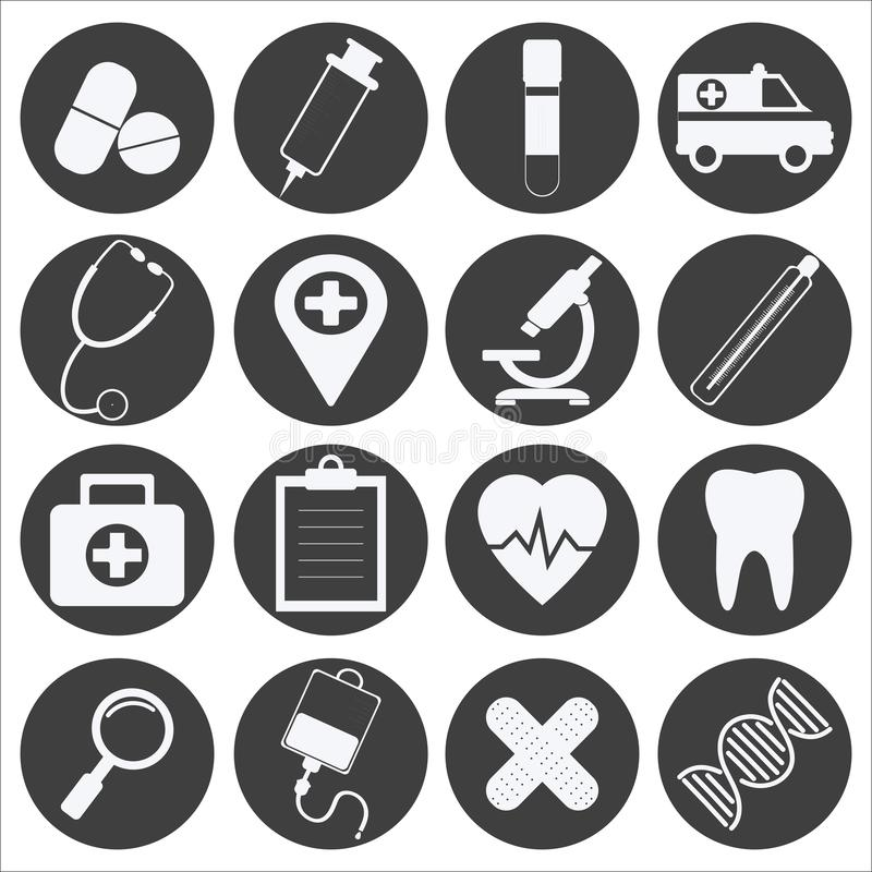 Medical Icon Set. Vector Illustration royalty free stock photos