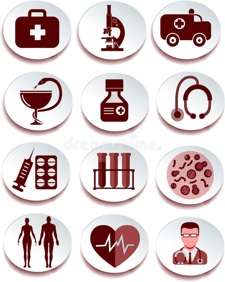 Download Medical icon set stock vector. Image of capsule, interface - 43649784