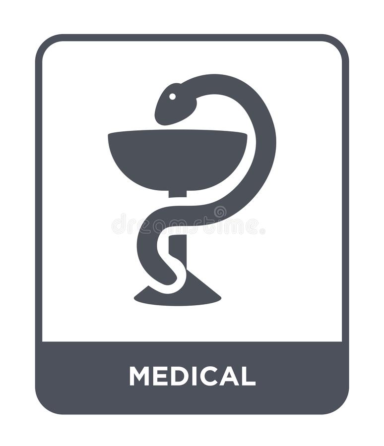 Medical icon in trendy design style. medical icon isolated on white background. medical vector icon simple and modern flat symbol. For web site, mobile, logo royalty free illustration