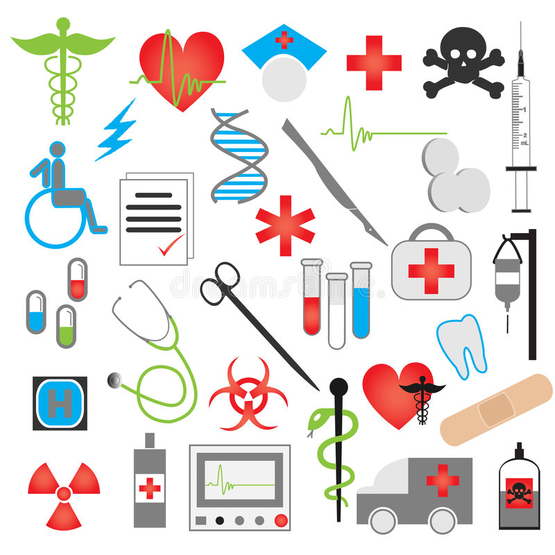 Free Medical Icon Vector Set Royalty Free Stock Photography - 7540467