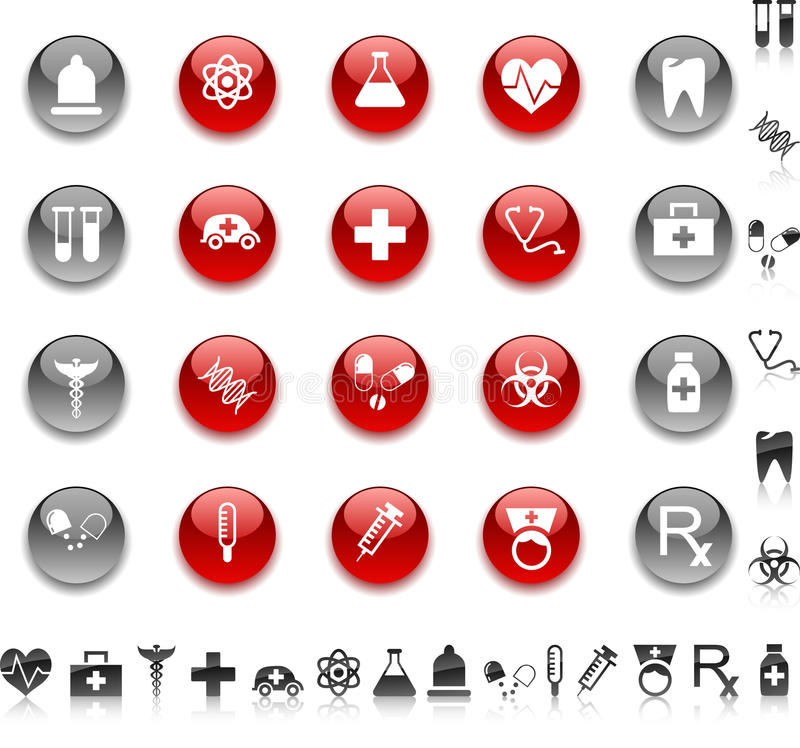 Medical icons. royalty free illustration