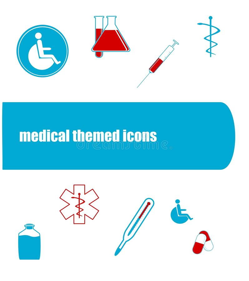 Medical icons royalty free stock photography