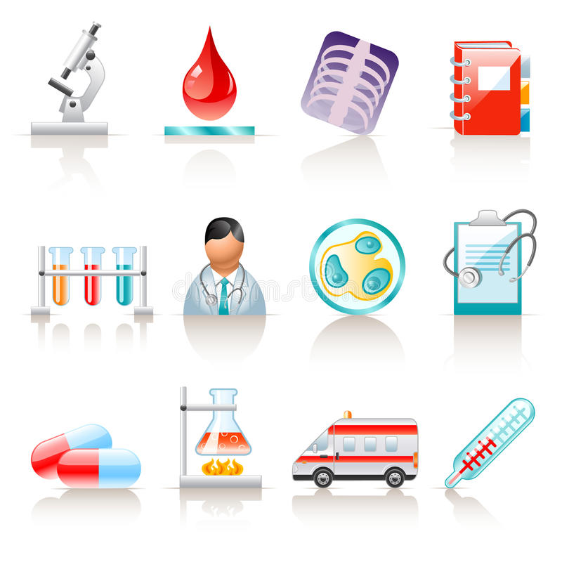 Download Medical icons stock vector. Illustration of drug, bacterium - 13932164