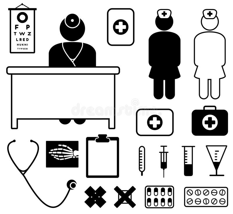 Download Medical icons stock vector. Image of illness, illustration - 13992019