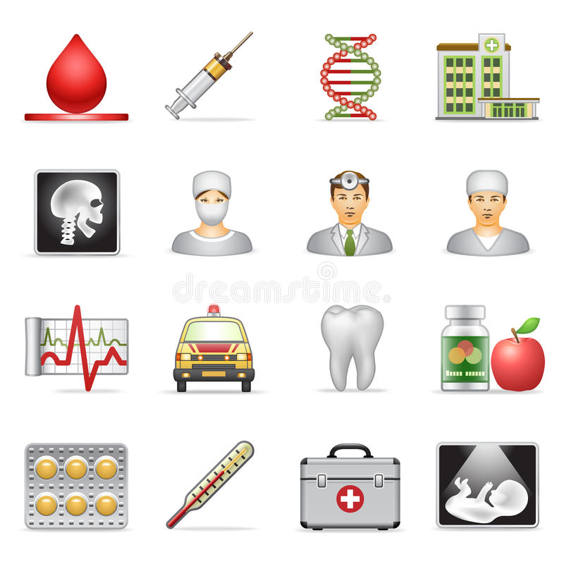 Download Medical icons. stock vector. Image of first, medicine - 23481245
