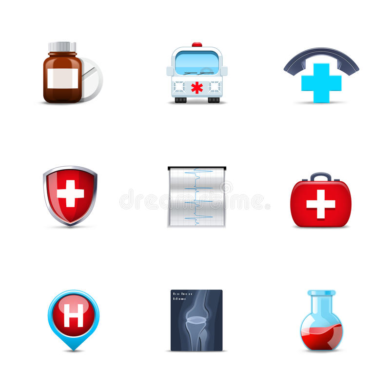 Download Medical icons stock vector. Illustration of roentgen - 24085849