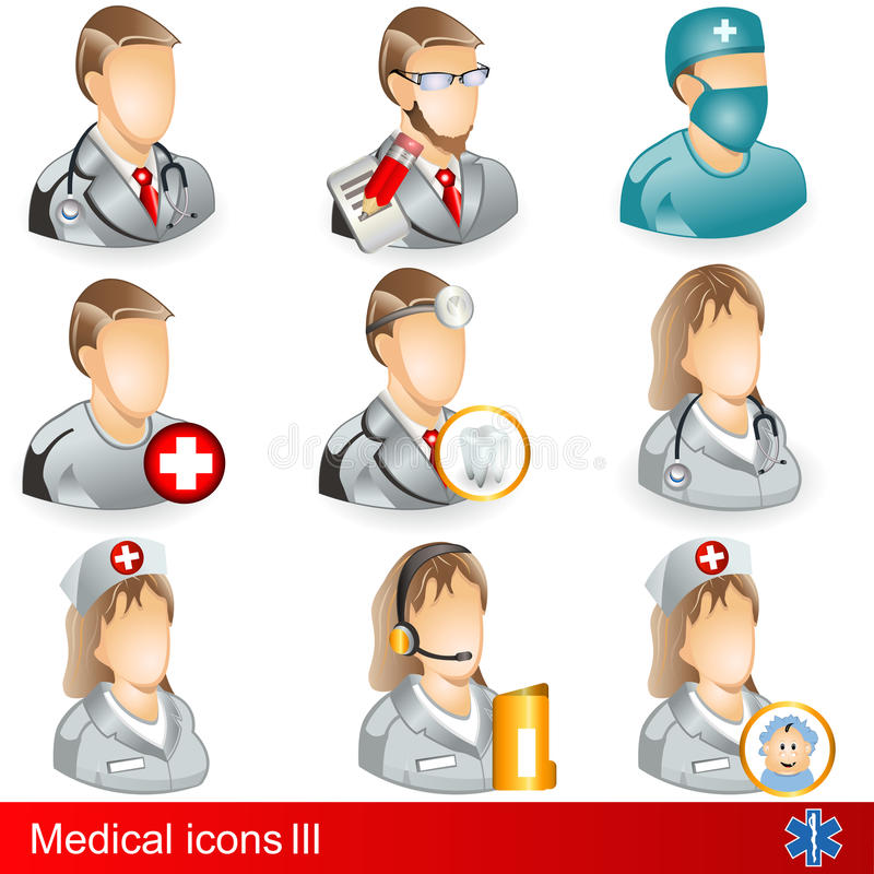 Download Medical icons 3 stock vector. Image of cartoon, professional - 24291598