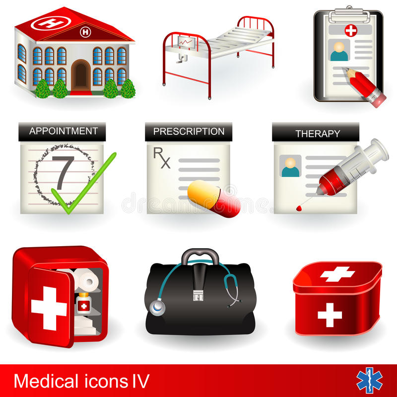 Medical icons 4 vector illustration