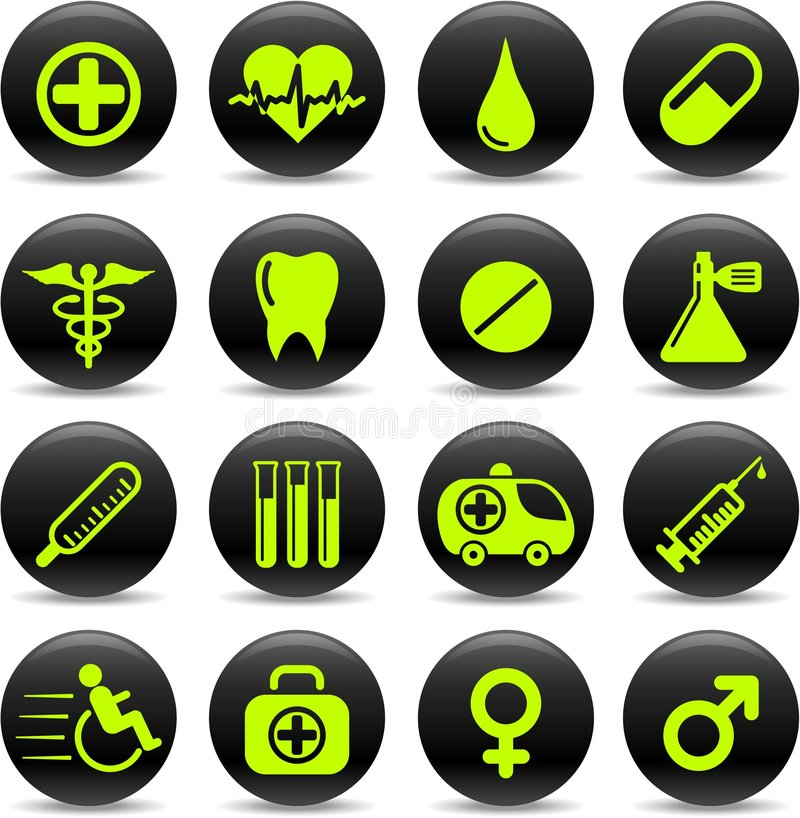 Download Medical icons stock vector. Image of male, modern, health - 8918717
