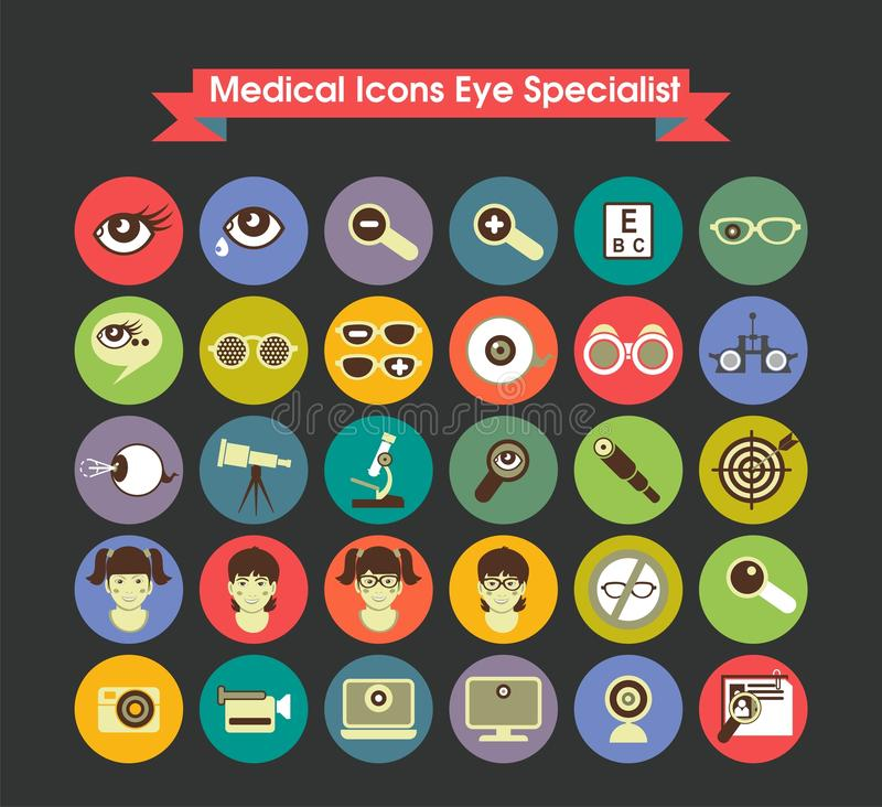 Download Medical Icons Eye Specialist Stock Vector - Image: 39371813