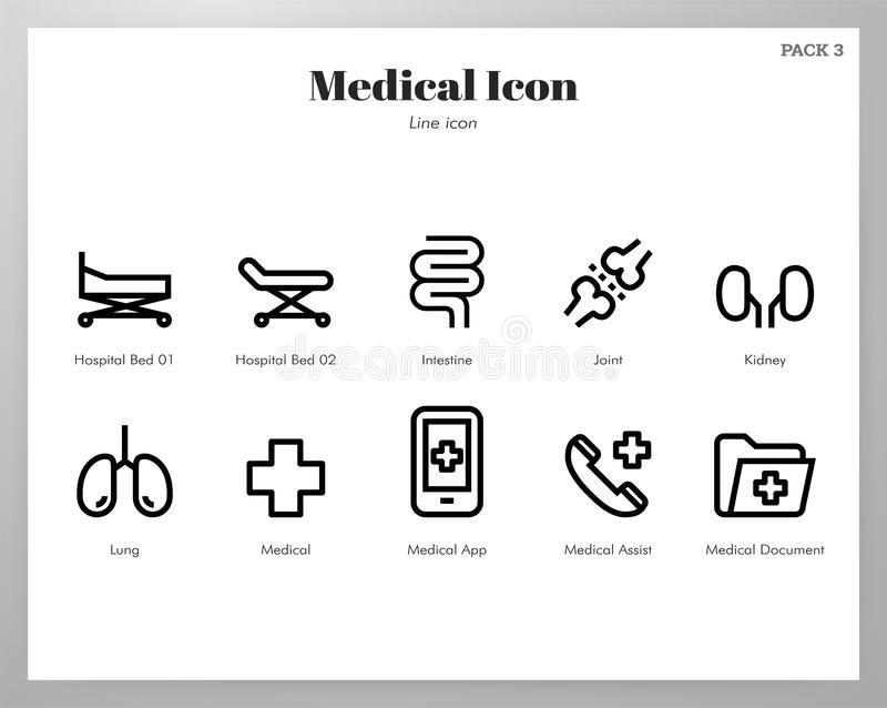 Medical icons Line pack vector illustration