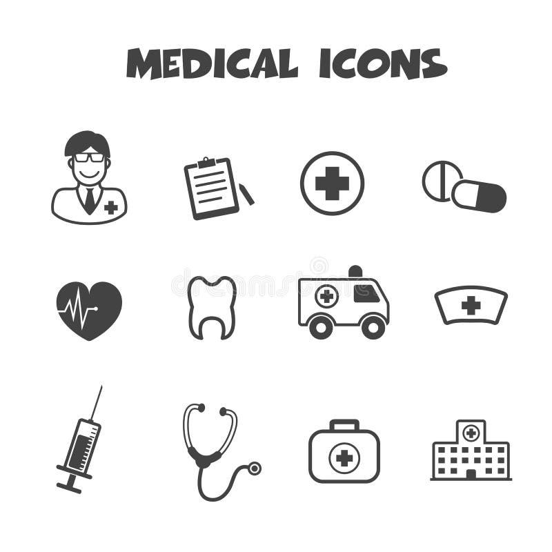 Medical icons. Mono vector symbols royalty free illustration