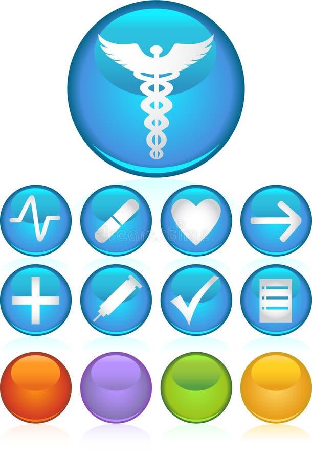 Medical Icons - Round royalty free illustration