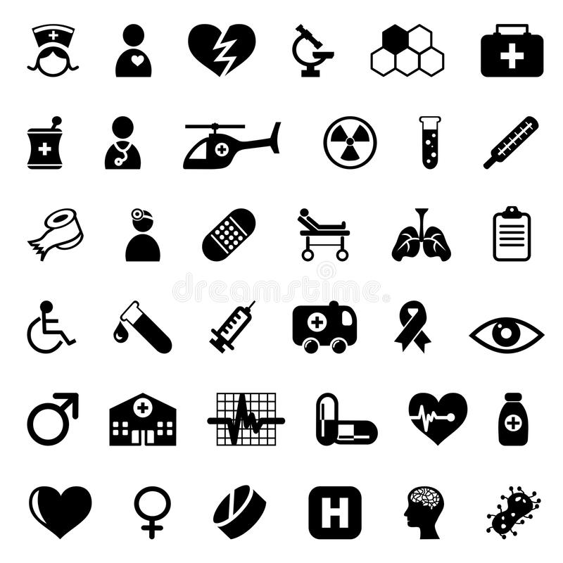Download Medical icons set stock vector. Image of medical, capsule - 15915448