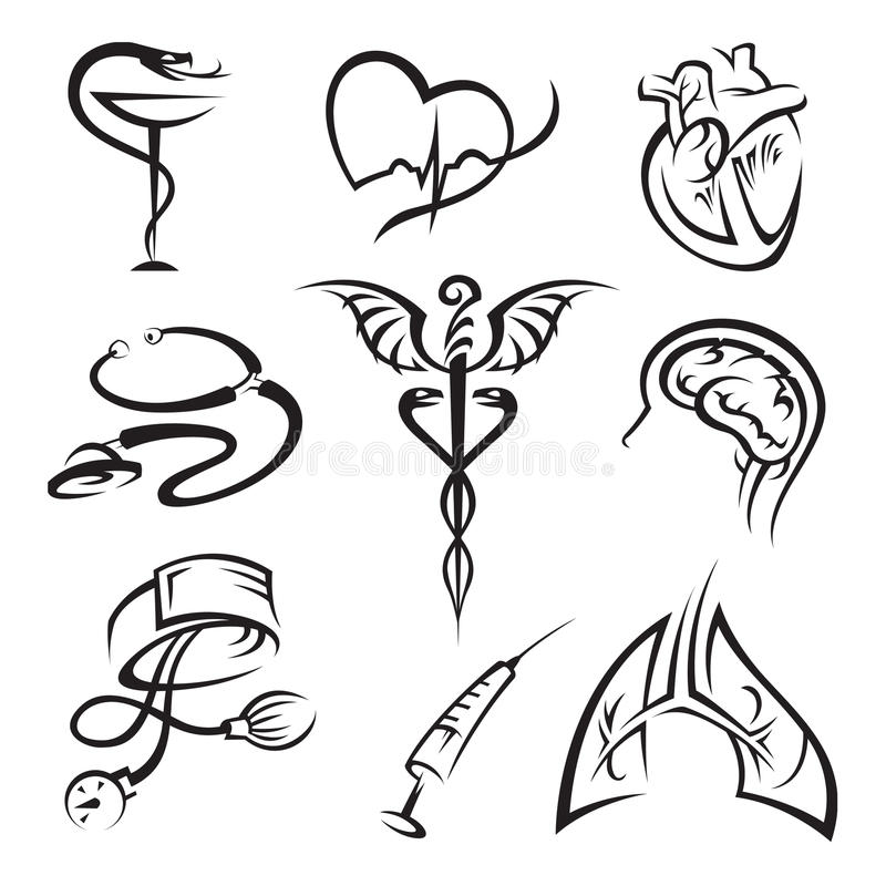 Download Medical icons set stock vector. Image of analyze, monitor - 16923396