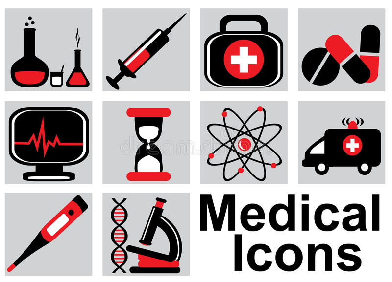 Download Medical icons stock illustration. Image of medicine, icons - 32146564