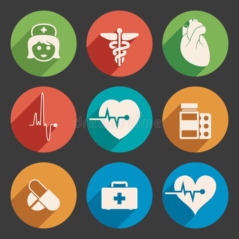 Medical icons, vector stock illustration