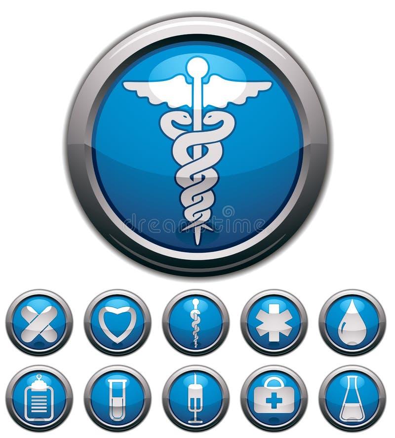 Medical icons set. stock illustration