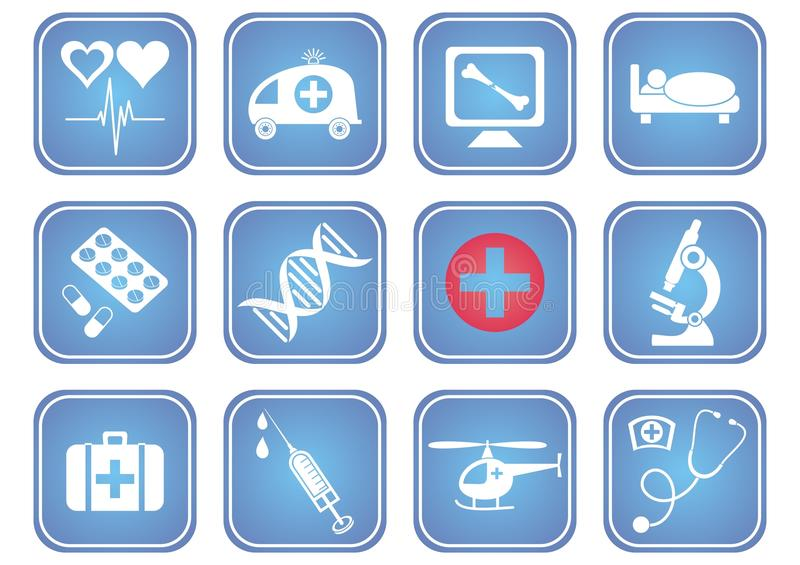 Medical icons royalty free illustration