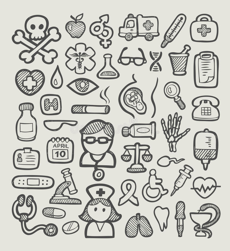 Medical Icons Sketch Stock Vector Image 41105277