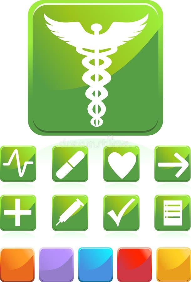 Medical Icons - Square stock illustration
